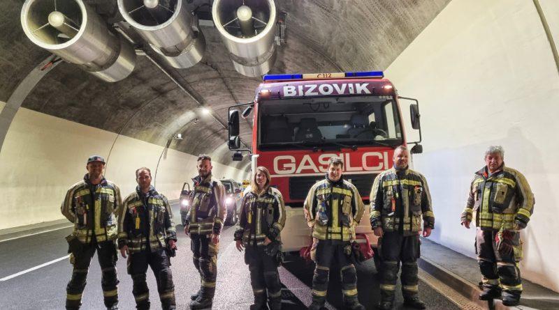 Požarni preizkus v predoru Golovec 15.6.2021